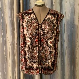 Red and Black Talbots Blouse size large